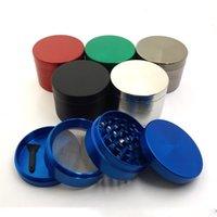 Vier Schichten Metallschleifer Kirsite Abrader Zink-Manuelle Pfefferschleifer Multicolor Küchenzubehör Neue Ankunft 13 9GC J2