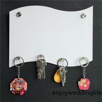 MDF Key Halter Hanging Board Sublimation Leere Hangplatten Flagge Form Bretter Benutzerdefinierte DIY Badezimmer Küche Zubehör Zoll 13 4mh B2