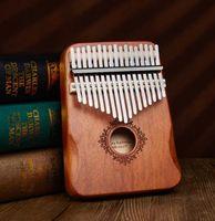 17 Tuşlar Kalimba Başparmak Piyano Yüksek Kalite Ahşap Maun Mbira Vücut Müzik Aletleri ile Öğrenme Kitap Kalimba Piyano