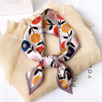 2021 дизайнерские женские шелковые шарф печать женские волосы шеи шарфы роскошный тощий повязка на голову леди галстук галстук ленты аксессуары лето