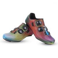 Calzado de ciclismo Boodun Shoes Microfibra transpirable resistente a la bicicleta deslumbrante Lock1