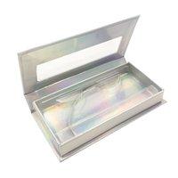 Líneas de papel transparentes Caja de pestañas Caja de montaje Caja de pestañas falsas Cajas Bandeja inferior Paquete de cosméticos Muti Color Oblong 3 7QL C2