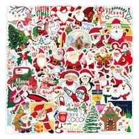 Albero di Natale Adesivi ringraziamento Car Sticker parete camera da letto della decorazione della parete di Babbo Natale Carta impermeabile Paster Frigorifero Acqua Cup 3 5xq M2
