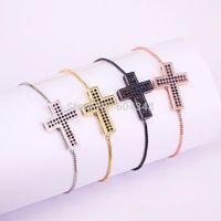 Lien, chaîne 10pcs zyunz bijoux black cz cuivre métal micro paver cubique zircon-zircone bracelets pour femmes hommes bijoux1