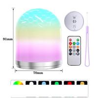 RGB LED Uzaktan Kumanda Gece Işığı USB Atmosfer Lambası Çocuk BedroomLamp Dekor Renkli Kamp Fener Tatil Partisi