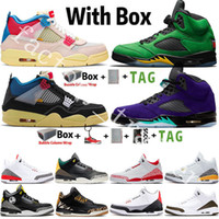 Air Jordan Retro 4 4s !Hava! Jumpman 3s Erkek Basketbol Ayakkabı 4s Birliği Guava Noir Yelken Alternatif Bel SE Oregon 5s Tinker Mocha Chicago Retro Spor Sneaker Trainer