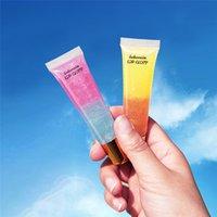 جيلي فم كبير lipgloss ترطيب وفرة شفافة الشفاه لمعان الزجاج الشفاه الصقيل مزدوج اللون لامعة جيلي الشفاه لمعان