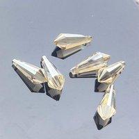 6 pcs claros cristais suncatcher candelabro cristais acessórios prismas icicle tine diy pingentes pendurados ornamento decoração de casa 20mm h jllcgu