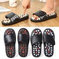 Hausschuhe Fuß Akupoint Aktivieren Massage Anti-Slip-Akupressur-Therapie Schuhe Pflege Entspannung Shoe1