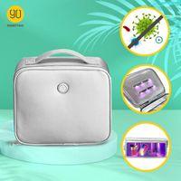 2020 NUEVA LLEGADA NINLETYGO 90FUN UV-CLEAN PORTALIZADA Bolsa de esterilizador portátil LED UVC Desinfect Pack Cosmetic Bag Ropa interior Ropa interior USB