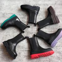 2020 Chelsea Boots Martin Boots echtes Leder Frauen Stiefel Plattform klobige Stiefel Damenstiefel Luxus-Designer-BV-Boot