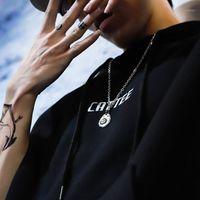 Punk Stil Ins Sokak Trendi Hip Hop Yüksek Köprü Kartal Kolye 316 Titanyum Çelik Kolye Kişilik Çift Aksesuarları Erkekler And1
