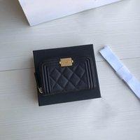Heiße beste Qualität echtelleder Herren Geldbörse mit Box Luxurys Designer Wallet Womens Wallet Purese Kreditkarteninhaber Passinhaber 198