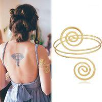Gold griechisch römischer Lorbeerblatt breite Armreif Armband Armband Oberarm Manschette Armlet Festival Braut Bauchtanz Schmucksachen1