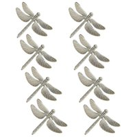 8PCS Dragonfly Napkin Ring Silver DIY Hotel Wedding Banquet Table Display Metal Napkin Buckle Christmas Decoration
