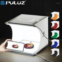 조명 스튜디오 액세서리 Puluz 미니 2 LED 패널 라이트 박스 PO 촬영 텐트 박스 + 22.5cm 첨탑 그림자없는 하단 조명 램프 패널 PAD1