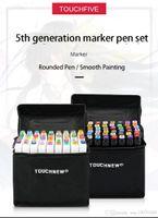Поставки моды Art Parts 168 Color Art Marker Pen Щетка эскиз алкогольный маркер двуглавый комический рисование