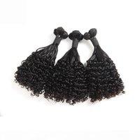 Brailin Fumi Hair Human Hair Wet y ondulado Curl 8-20inch Extensiones de cabello virgen africano Fumi Ola de agua Rizado Color natural