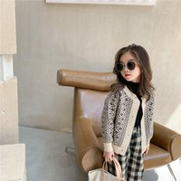New Autumn Winter Boys Girls Vintage Knit Cardigan 2 Color Fashion Children Single-breasted Soft Casual Sweater Coat 201126