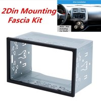 Металл 2Din автомобилей Радио Рамка фасции приборную панель для стерео DVD-плеер Маунт Трим