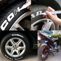 10 teile / los wasserdicht öl permanente marker stifte weiße farbe malerei zeichnung stift set graffiti stift für auto motorrad reifen tritt 201125