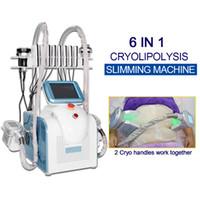 6 In 1 Kryo-Maschine Cryolipolysis Slim 2 Cryolipolyse-Griffe können kühle Kryotherapie-Geräte zusammenarbeiten