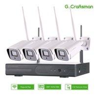 8CH نظام الدوائر التلفزيونية المغلقة اللاسلكية 880P 2TB 4PCS 2MP NVR WIFI IR-CUT في الهواء الطلق CCTV كاميرا IP نظام الأمن فيديو كيت 1