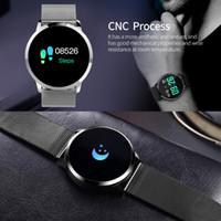 Q8 oled بلوتوث الذكية ووتش الفولاذ المقاوم للصدأ للماء للجهاز الذكية ساعة اليد ساعة اليد النساء اللياقة البدنية المقتفي