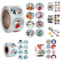 10 Styles etiqueta do Natal vedação adesivos Etiqueta do Feliz Natal Cartão Envelope Gift Box Decoração HH9-3558