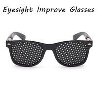 1 PCS العناية ممارسة العين البصر تحسين نظارات شمسية الأسود للجنسين الثقوب نظارات الرؤية Caresunglasses
