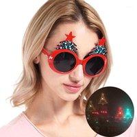 النظارات الشمسية البيضاوي شكل قلب المرأة إطار تغيير البصرية العدسات شجرة عيد الميلاد الملونة الأحمر الوردي الظلال 1