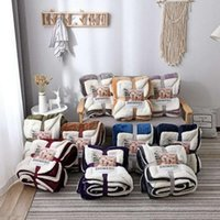 Pure Lamb Wool Blanket Thickened Double Flannel Blankets Sol...