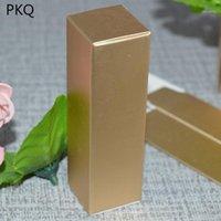 Cadeau cadeau 50pcs or kraft papier boîte à lèvres / lèvre Gloss Emballage longue emballage Cosmétique Stockage 2.5x2.5x8.5cm1