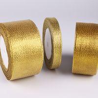 Drucken Gurtband Geschenkbox Verpackung Bogen Dekorieren Seidenband Goldene Silber Zwiebel Thread Tape Factory Direktverkauf 22DD7 P1