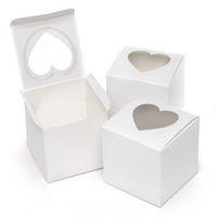 Finestra a forma di cuore Singola PVC Bigné Bigné Boxes New Style Single Bupcake Boxes per Party Candy Regalo Confezione regalo 217 J2