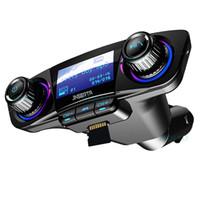 Bluetooth 5.0 Kit auto wireless trasmettitore FM Trasmettitore Audio Audio Ricezione MP3 Player Dual USB Caricabatterie USB TF AUX IN Modulatore Accessori auto BT06