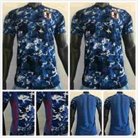 Versione del giocatore Giappone Japan Jerseys 4 Honda Kagawa Okazaki Endo Nagatomo Hasebe Kamamoto Personalizzato Casa giapponese Blu 2020 2021 Camicia da calcio