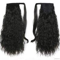 Africano americano penteado penteado wet ondulado brasileiro cabelo pônei extensão solta onda envoltório pônei cauda humano cabelo 120g