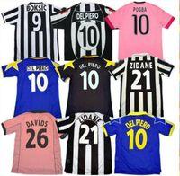 Retro del Piero Montero Soccer Jersey 84 85 92 95 96 97 98 99 02 03 11 12 15 16 Platini Zidane Inzaghi Rossi Vieri Davids كرة القدم قميص