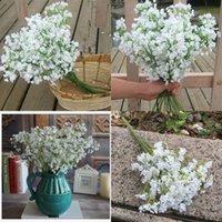 Pure Bianco Decorazioni di nozze fiori Artificiali Simulazione Soft Silicone Gypsophila Bouquets Party Home Decor Flower Nuovo arrivo 1 97rs G2