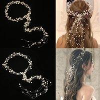 Зажимы для волос Barnettes 2021 Западная свадьба мода невеста головной убор ручной работы корона цветочные жемчужные аксессуары шпильки орнаменты