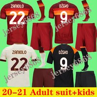 الكبار عدة أطفال كرة القدم جيرسي زانيولو روما دزيكو باستور روما توتي كلويفرت كولاروف ك 20 21 قميص كرة القدم