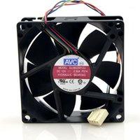 AVC DL08025R12U 8CM 8025 80x80x25mm DC 12V 0.50A 2-провода гидравлический охладитель охлаждения вентилятора1