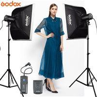 GODOX FOTOGRAFIA ضوء استوديو 2PCS 160Ws 160DI فيديو ستروب ضوء فلاش مع الفوتوغرافي Softbox 160DI كيت LED مصباح مع TR-04 فلاش الزناد