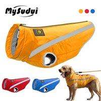 Mysudui Medium Big Dog Ropa de invierno para perros Mascotas Ropa Reflective Perro Chaquetas Abrigo para perros al aire libre Invierno Cálido Bulldog T200101