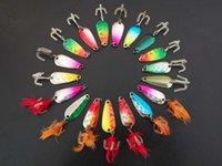 50pcs di richiami di pesca Cucchiaio Kit Crankbait Cucchiaio Bass Trota glaucomi 5g / 3.5cm colori misti