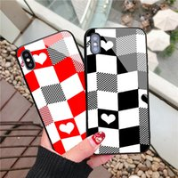 Fashion Designer IPhone Case Creative New Glass Cases for Iphone Xsmax XS 7 8plus XR Protection Case Wholesale
