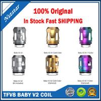 100% Orijinal TFV8 Bebek V2 Bobinleri Yeni Maksimum Örgü Yedek A1 0.17OHM S1 0.15OHM S2 0.15OHM TFV8 Bebek V2 Tankı için Tek Çift Üçlü Bobin