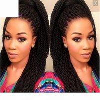 26-Zoll-lange Perücke synthetische Spitzen-Front-Zöpfe Perücken Twist-Perücken für schwarze amerikanische Frauen mit Babyhaar