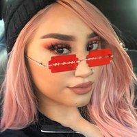 2021 Neue Klinge Metall Konkave Form Mode Persönlichkeit Frameless Rasierrazer Sonnenbrille